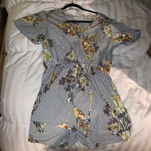 Other - adorable floral striped romper!